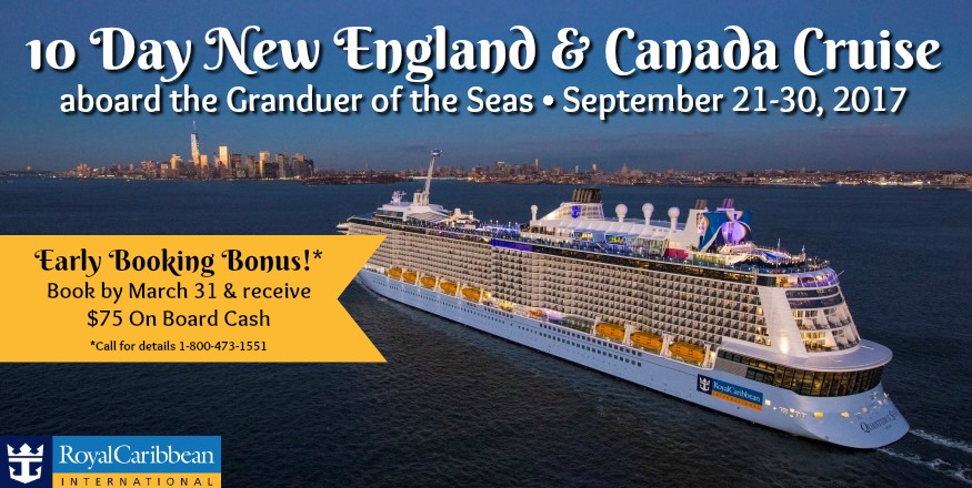 10 Day Canada and New England Cruise